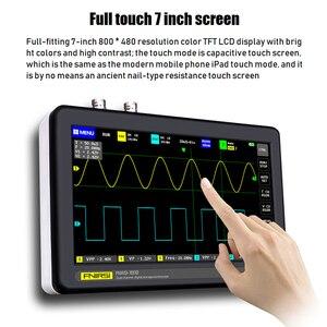 Image 2 - ADS1013D 2 Canali 100MHz Larghezza di Banda 1GSa/s frequenza di Campionamento Oscilloscopio con 7 Pollici A Colori TFT LCD Toccare schermo