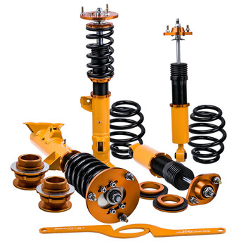 coilover kit for bmw 3 series e36 m3 base convertible 2 door struts shocks 91 98 absorbers front rear dampering springs strut Coilover 2 Front + 2 Rear Spring Struts for BMW 3 Series E36 318i 323i 325i 328i Suspension Shock Absorber