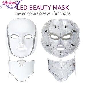 Image 1 - Mascarilla Facial con luz LED, 7 colores, rejuvenecimiento de la piel, tratamiento cuidado Facial, terapia antiacné, blanqueamiento