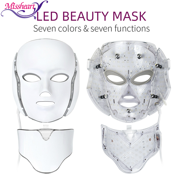 Mascarilla Facial con luz LED, 7 colores, rejuvenecimiento de la piel, tratamiento cuidado Facial, terapia antiacné, blanqueamiento