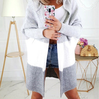 Women's Knitted Cardigan Sweater Hooded Oversized Batwing Sleeve Lady Cardigans 2019 Autumn Casual Sweaters Female Plus Size 5XL