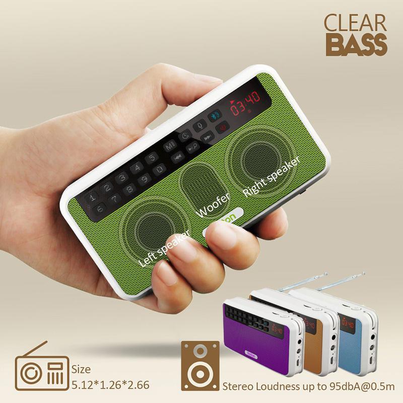 Портативная стереоколонка TWISTER.CK Rolton E500, Bluetooth-Колонка s, FM-радио, чистый бас, двухтрековый динамик, TF-карта, USB музыкальный плеер