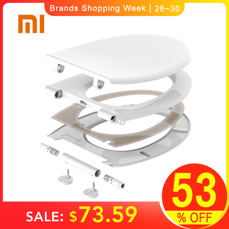 XIAOMI Original Smart Whale Spout Heating Warm Electric Toilet Seat For Closestool NTC Temperature Control System Night Light toilet seat