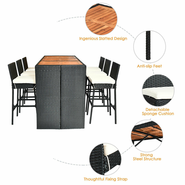 7 PCS Outdoor Dining Furniture Set 6