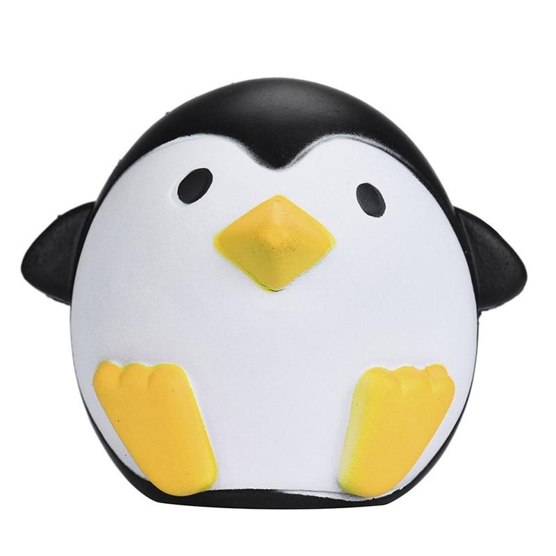 12*10.5*6.5cm Squichi Kawaii Penguins Squishy Decompression Toys Slow Rising Cream Scented Elastic PU Squishy Jumbo Smouchi A40