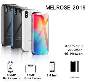 Image 2 - סופר מיני מלרוז 2019 4G Lte הקטן Smartphone 3.4 MTK6739 Quad Core אנדרואיד 8.1 טביעות אצבע נייד