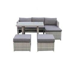 SOKOLTEC sofa High end outdoor schnitts tische teak rahmen terrasse wasserdichte garten möbel rattan wicker tisch sets