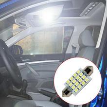 16 Светодиодный светильник s фонари на крышу автомобиля белый светильник гирлянда светодиодный лампы 31 мм, 36 мм/39 мм/41 мм светодиодный светильник s SMD 3W
