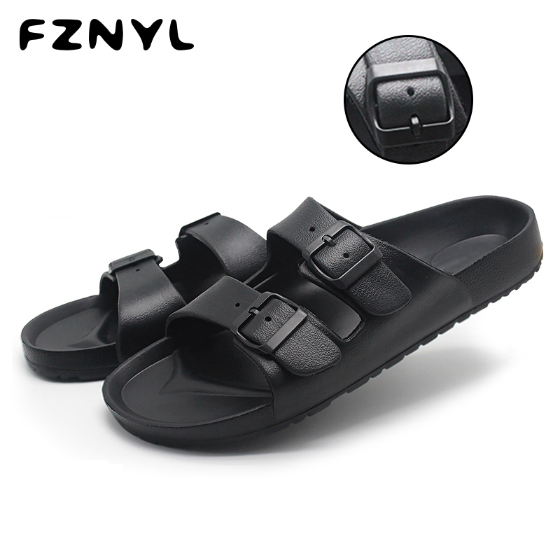 FZNYL Outdoor Men's Slippers Leisure Soft Slides 2019 Non-slip Waterproof Casual Shoes Male Beach Sandals Size 40-46 Sandalias