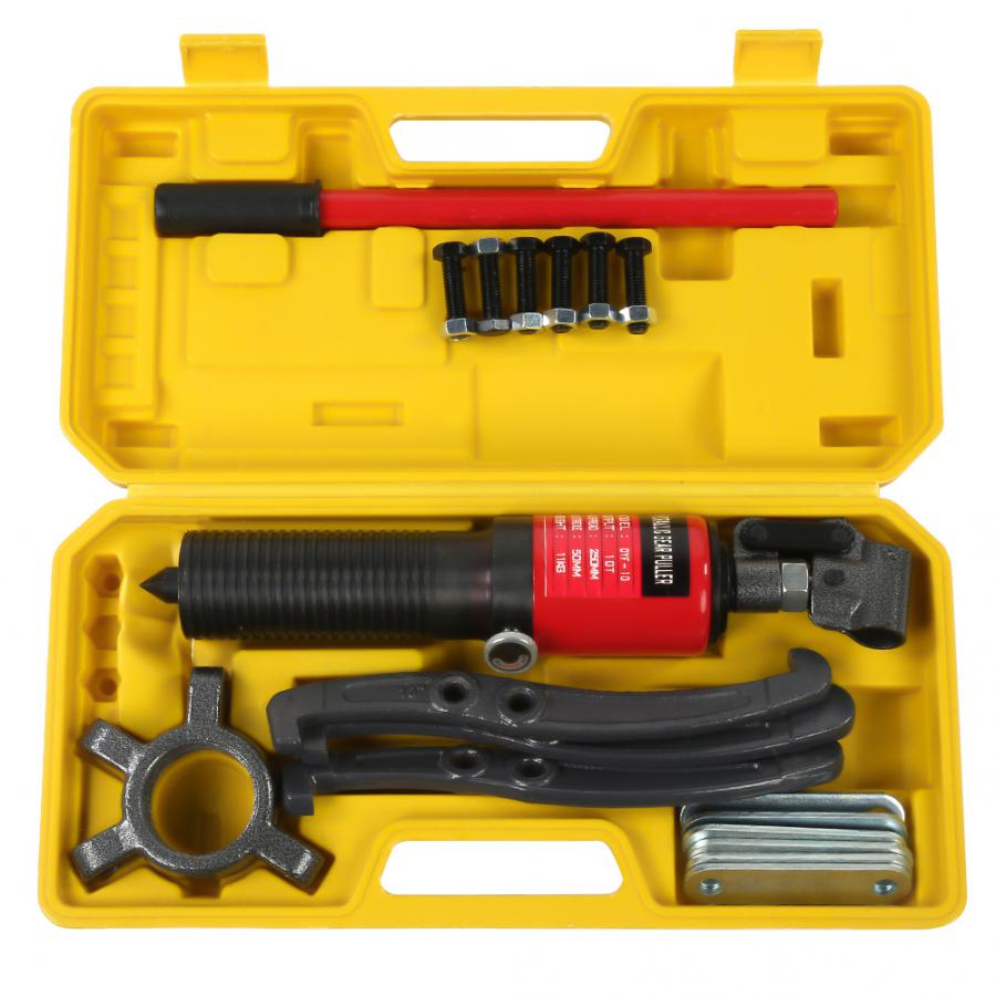 10T Hydraulic Gear Puller Pumps Oil Tube 3 Jaws Drawing Machine Household Tool Set