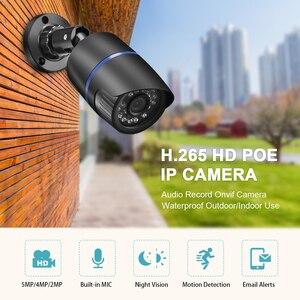 Image 2 - Gadinan 5MP 2592X1944P 3MP 2MP enregistrement Audio POE IP caméra extérieure CCTV Surveillance balle caméra IR Leds P2P ONVIF 48V POE