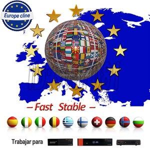 DVB-S2 Recepter Europe cline Spain Portugal for 1 Year 9 cccam cline Espana for GTmedia v8 nova v9 super Satellite receiver(China)