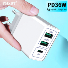 36W PD USB C Fast Charger Quick Charge 3.0 For iPhone 11 Pro Multi Usb Charger EU US UK Plug Support QC 4.0 3.0 For Samsung S10 ugreen 36w fast usb charger quick charge 4 0 3 0 type c pd fast charging for iphone 11 usb charger with qc 4 0 3 0 phone charger