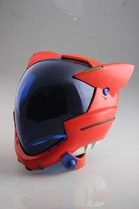 Image 2 - Аниме EVANGELION EVA шлем Asuka Langley Soryu шлем Ayanami Rei Акриловая Маска Косплей Хэллоуин реквизит