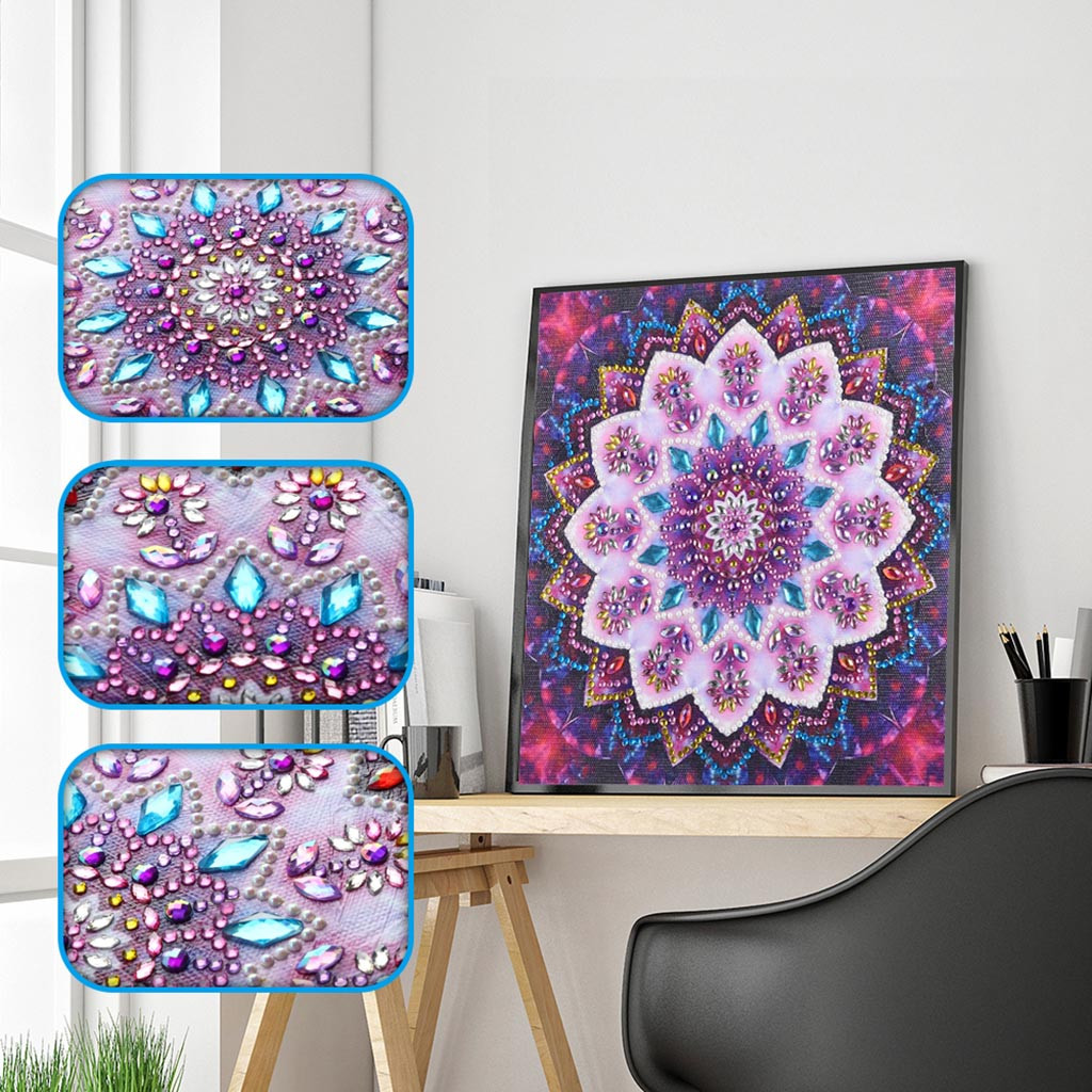 Boss Flower 5D DIY Diamond Painting Partial Drill Special Shaped Diamond Crystal Rhinestone Embroidery Arts Craft Decor ST06
