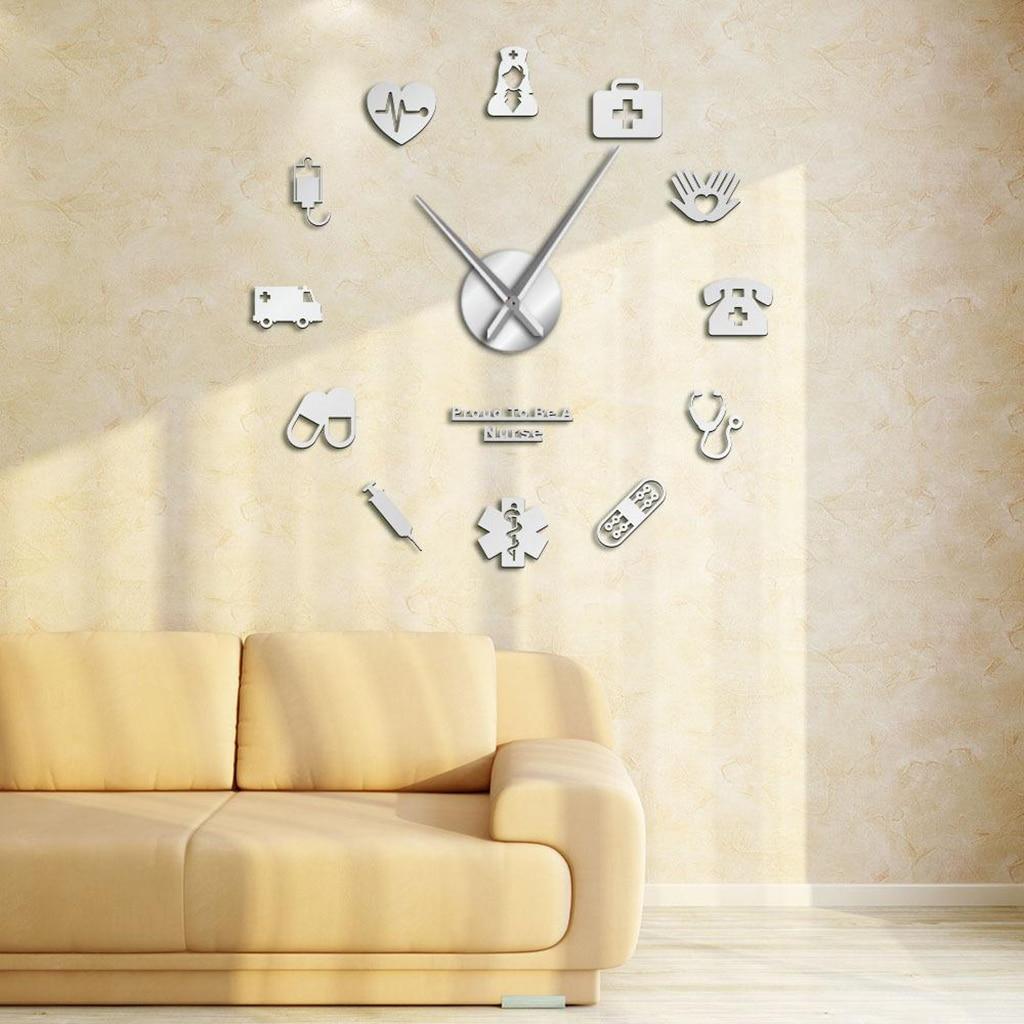 Wall Clocks Large Wall Clock,Large Wall Clocks Acrylic Mirror Surface, Wall Clock 3d Diy Clock