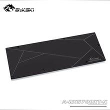 Bykski placa traseira de metal, uso para amd radeon rx5700/5700xt gpu bloco/apenas compatível bykski 5700 bloco 3mm espessura