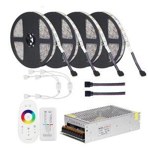 Image 1 - DC12V 5050 HA CONDOTTO La Striscia RGB RGBW RGBWW 5M 10M 20M Set HA CONDOTTO La Striscia 5050 RGB 60LED /m + di Tocco di Telecomando + 12V adattatore di Alimentazione