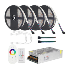 DC12V 5050 LED Streifen RGB RGBW RGBWW 5M 10M 20M Set LED Streifen 5050 RGB 60LEDs /m + Touch Remote Controller + 12V Power adapter