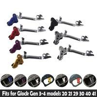 Leistung Aluminium Verbesserte Flache Tri-ger Schuh Passt Für Glock Gen 3 ~ 4 Modelle 17 19 20 21 22 23 26 27 29 30 40 41