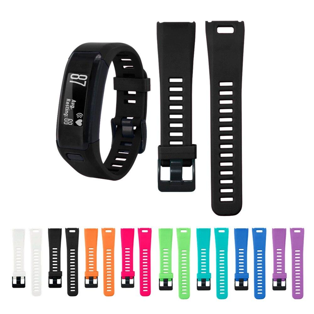 Силиконовый ремешок для смарт-часов Garmin Vivosmart HR, сменный Браслет для смарт-часов Vivosmart HR, спортивные аксессуары