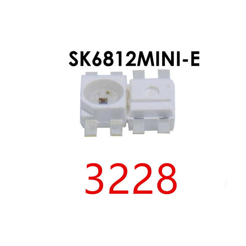 100-2000PCS SK6812 MINI-E RGB (similar With WS2812B) SK6812 3228 SMD Pixels LED Chip Individually Addressable Full Color DC 5V