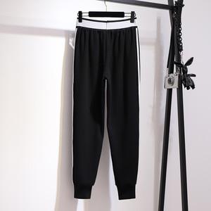 Image 4 - 2019 jesień zima plus rozmiar spodnie sportowe dla kobiet duże grube aksamitne wełny dorywczo luźne ciepłe długie 3XL 4XL 5XL 6XL 7XL