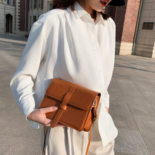 Spring texture foreign style small bag female 2020 new Korean version of the wild one-shoulder ins fashion messenger bag foreign bag female 2020 new korean version of the fashion texture crocodile pattern wild shoulder messenger chest bag