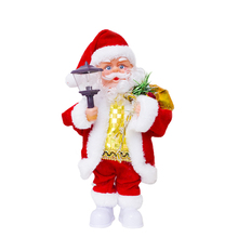 Christmas Doll Electric Santa Claus Plastic Festive Ornaments Kids Gift Toy Music Creative Event Make Sound