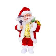 Christmas Doll Electric Santa Claus Plastic Festive Ornaments Kids Gift Toy Music Santa Claus Creative Event Make Sound