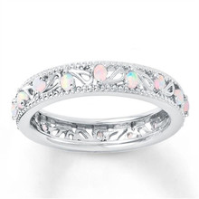 Hot Selling New Fashion Women Wedding Jewelry  Hollow Out Natural Rainbow Ring Wedding Bride Engagement Rings rhinestone engagement hollow out ring