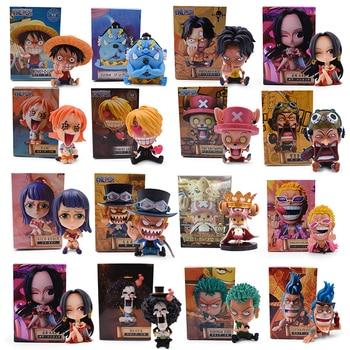 One Piece Figure Anime Q Ver. Childhood Luffy Zoro Nami Sanji Robin Hancock Chopper Ace  PVC Action Model Christmas Gifts Toys недорого