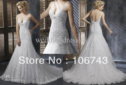 Free Shipping 2016 Hot V Neck Crystal Designer Custommade Size/color Sheer Appliques Lace Bridal Gowns Beaded Wedding Dresses