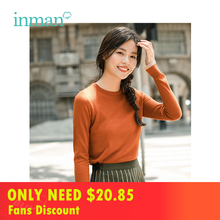 INMAN Autumn Wool Warm Multi-color Women Round Color Pullover Sweater