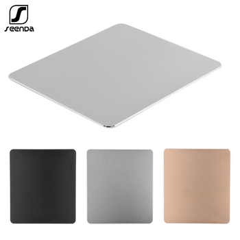 SeenDa Aluminum Alloy Non-slip Gaming Mouse Pad Mat Double Sided Accurate Control Waterproof  Keyboards Mouse Pads for PC mouse pad mouse mat gaming aluminum alloy double side 10 49 8 86 inch anti slip non slip large metal for mackbook laptop rubber