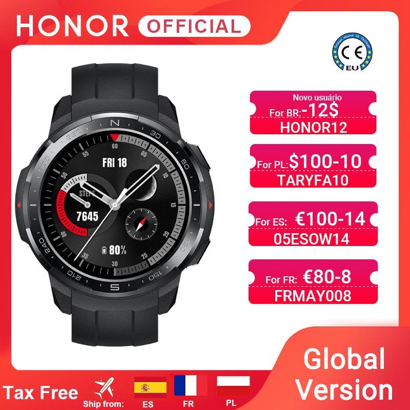 Глобальная версия Honor часы GS Pro Smart Watch SpO2 Smartwatch сердечного ритма в режиме реального вызовов через Bluetooth 5ATM спортивные часы для мужчин