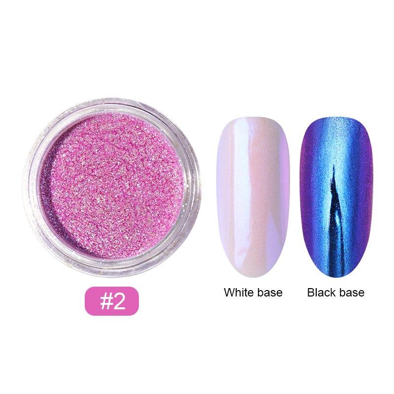 0,2 г/кор. зеркало-хамелеон, лазерные блестки для ногтей, порошки, эффект Auroras, дизайн ногтей, хромированный пигмент, пыль, сделай сам, дизайн, украшение - Цвет: 11