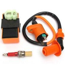 цена на Motorcycle ATV Racing CDI Ignition Coil Spark Plug For GY6 50cc 125cc 150cc 139QMB 152QMI 157QMJ