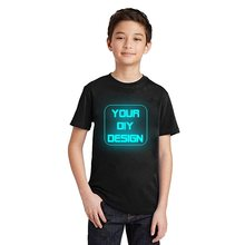 LYTLM Customized T Shirt Logo Printing Glow in Dark Neon Luminous 100% Cotton Baby Boy Clothes Girls Shirts Kids Tshirt Changing(China)