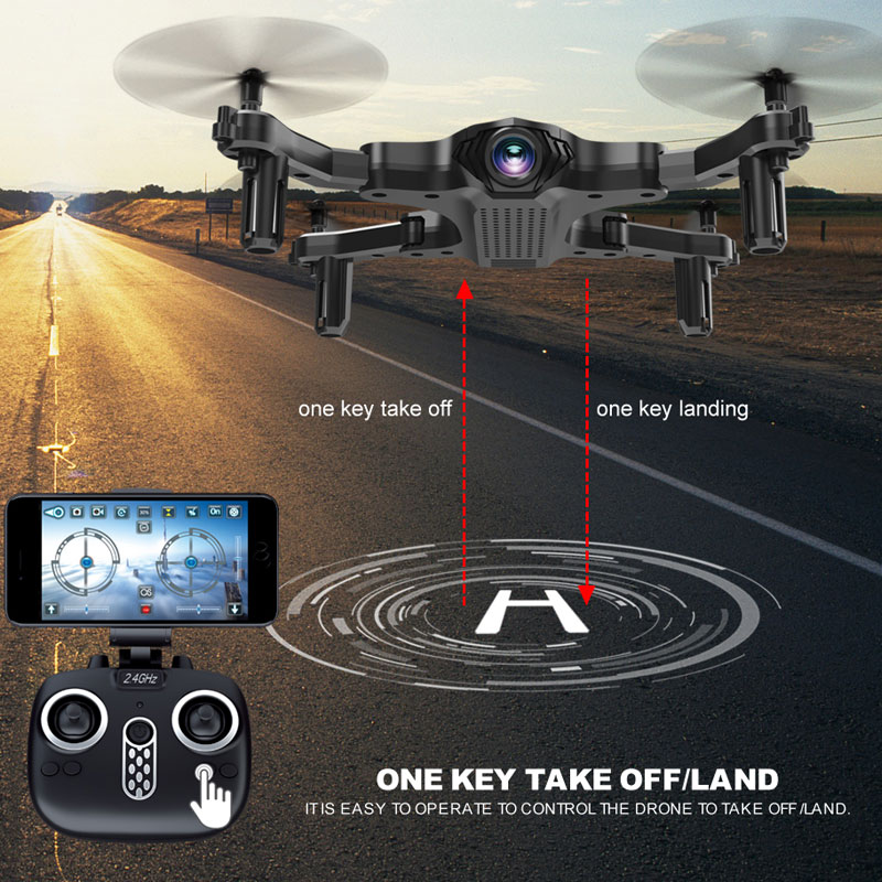 Clearance Cewaal Toy RC Drone 4CH 6-Axis Gyro 720P Drone FPV 2.4G WIFI Foldable Quadcopter One Key Return Real Time Transmission