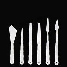 6 шт./компл. пластиковый нож для рисования шпатель палитра нож масляные аксессуары для рисования смешивание цветов для масла, холст, акриловая живопись