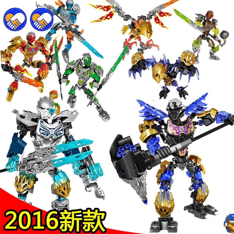 Lepining Biochemical Warrior Bionicle Mask Of Light Bionicle Tahu Ikir Bricks Building Block Toys(China)