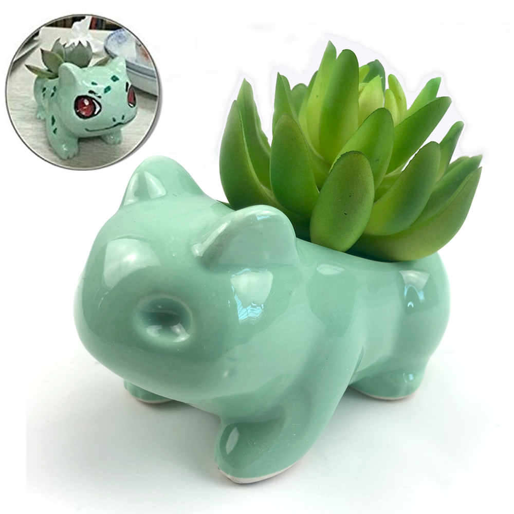Bulbasaur Succulent fleshiness Planter Flower pot DIY Painting Art Vase Plant Pot Pokemon garden pot box