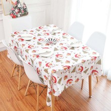 New 3D Tablecloth Christmas Tree Year Fireworks Waterproof Thicken Rectangular and Round Wedding Table Cloth