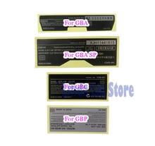 20 قطعة ملصقات جديدة ملصقات خلفية للاستبدال لألعاب Gameboy Advance/ SP/ Color for GBA/ GBA SP/ GBC/GBP
