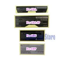 GBA/ GBA SP/ GBC/GBP 게임 콘솔 용 Gameboy Advance/ SP/ Color 용 20pcs 새 Lables 백 스티커 교체