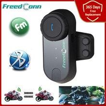 FreedConn oreillette Bluetooth pour moto, appareil de communication Original pour casque, Intercom avec Radio FM, Version mise à jour, 2021 T COM VB/FM