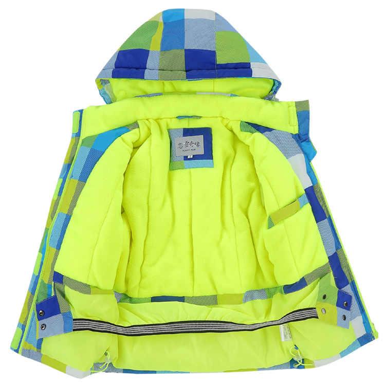 OLEKID 2019 Çocuk Kış Ceket Rüzgar Geçirmez Su Geçirmez Kız Giyim Ceket 3-16 Yıl Çocuklar Erkek Kayak Sıcak Parka Genç snowsuit