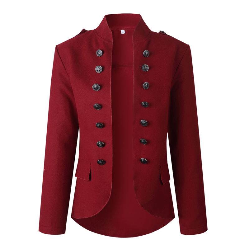Women Blazer And Jackets Double Breasted Blazer Streetwear Vintage Korean Fashion Red Slim Blazer Office Jacket Women 2020