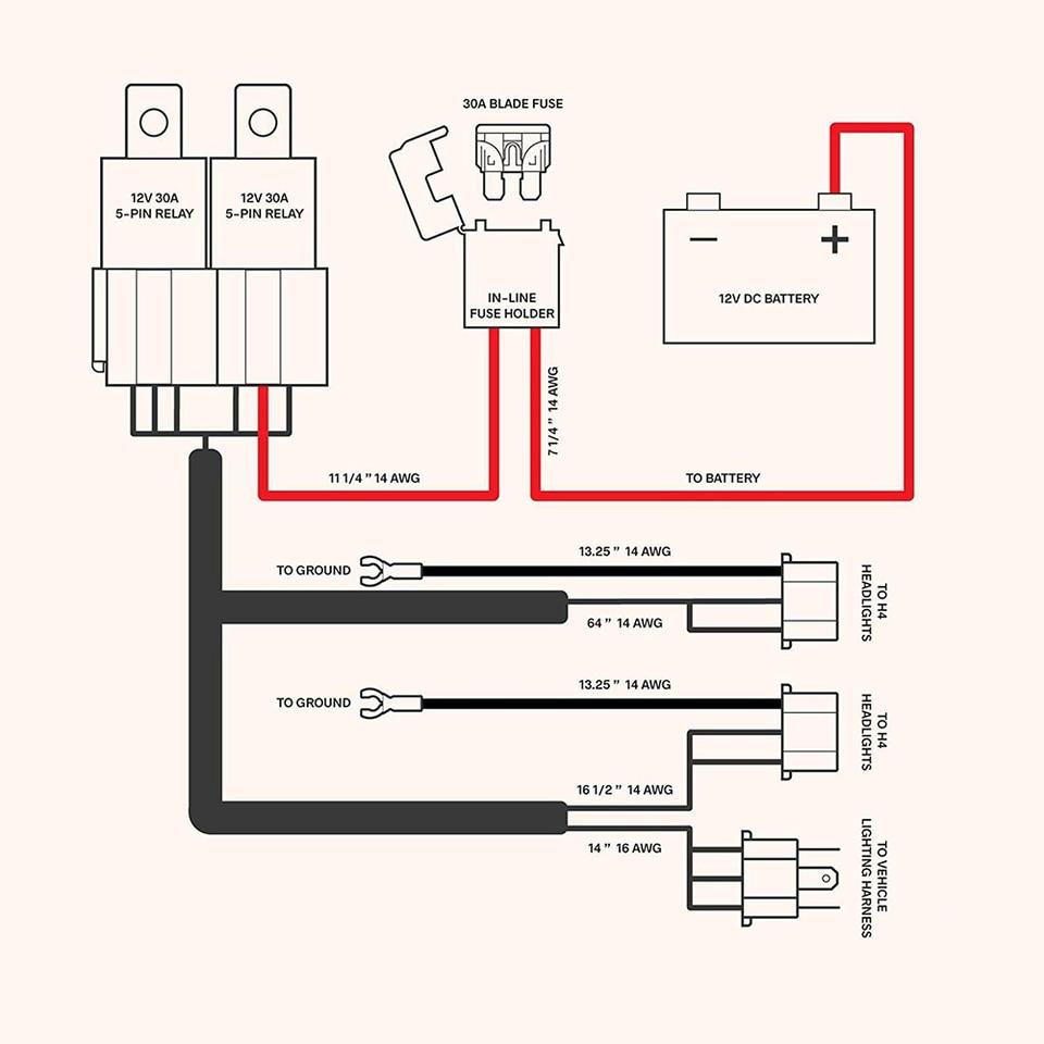 [DIAGRAM_3NM]  H4 Headlight 7 Inch Relay Wiring Relay Harness 2 Car Light Bulb Socket Plug  For Car Auto Headlight Accessories Dropshipping| | - AliExpress | Bulb Socket H4 Wiring Diagram |  | AliExpress